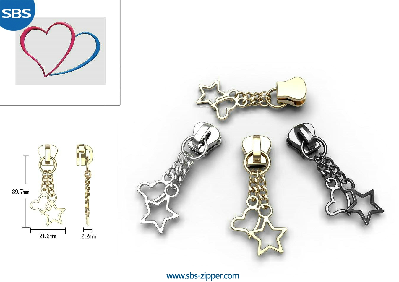Customized Zipper Pulls Manufacturer 16AC001 | SBS Zipper