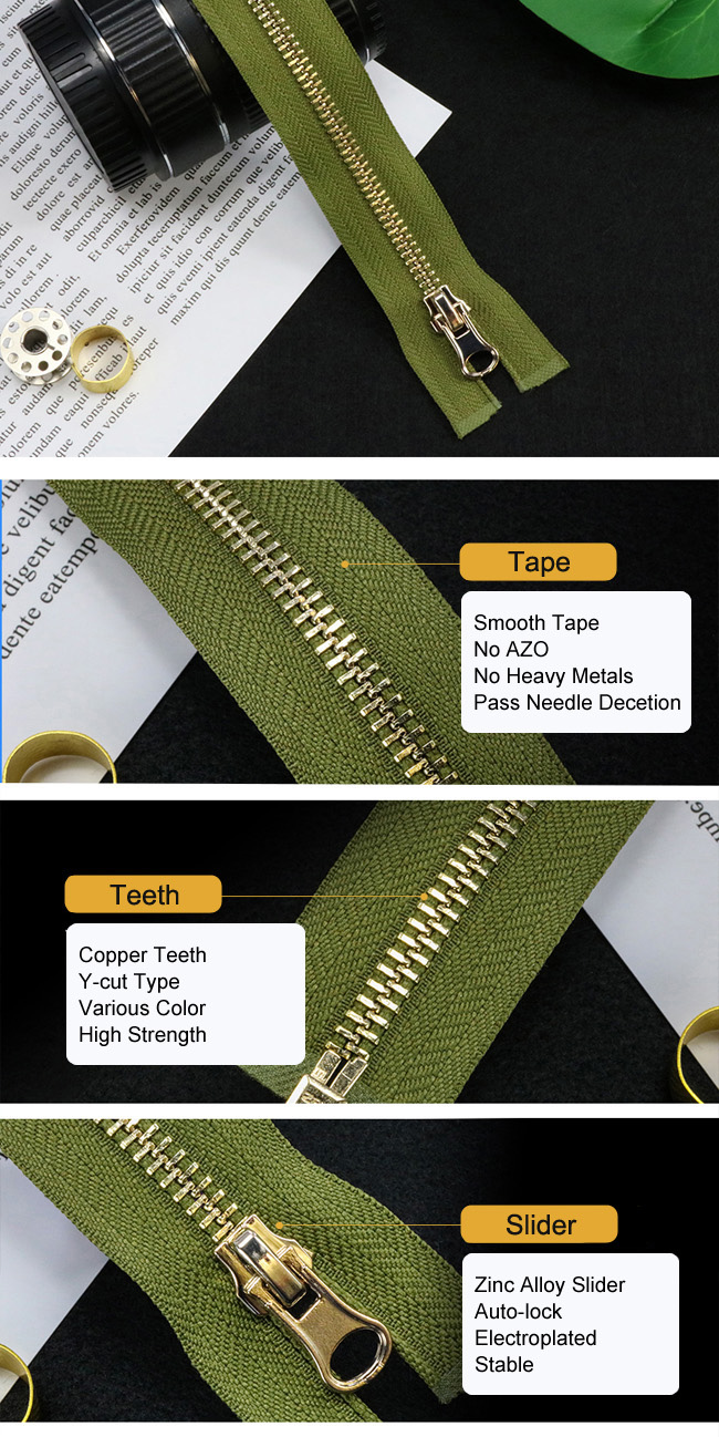 Standard Metal Zipper supplier