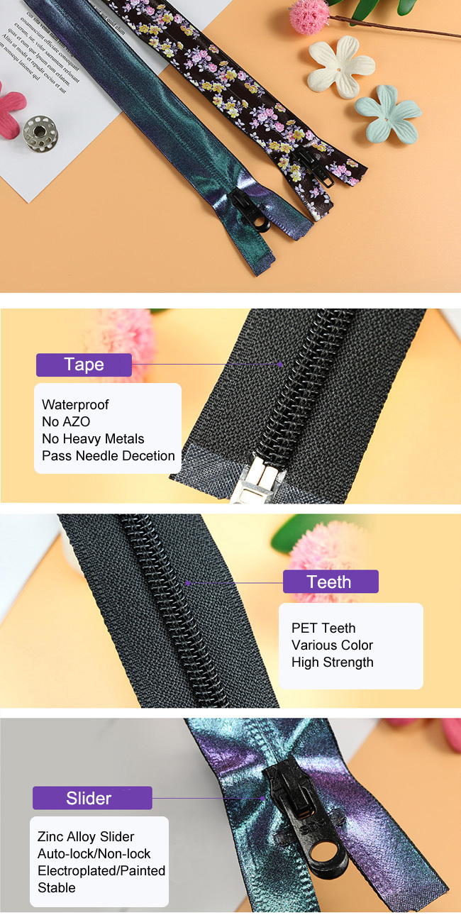 Rubberizing Waterproof Coil Zipper manufacturer