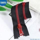 Plastic Zipper With Curved Teeth