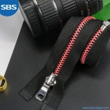 Metal Zipper With Round Aluminum Teeth