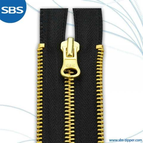 Double Side Teeth Metal Zipper