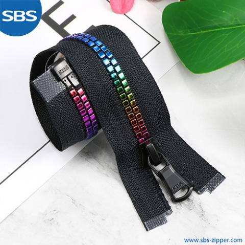 Plastic Zipper With Coating Film